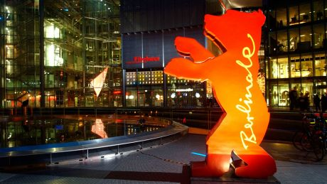 Berlinale-Bär am Sony-Center am Potsdamer Platz, Foto (c): rbb