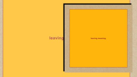 Leaving Meaning von Swans