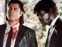 "John Travolta und Samuel L. Jackson in ""Pulp Fiction"" © imago/AGD"