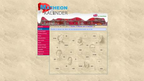 Matheon Adventskalender © Matheon