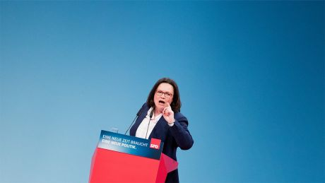Andrea Nahles beim SPD-Sonderparteitag