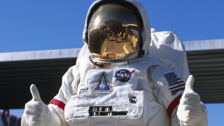 Astronaut im Kennedy Space Center in Cape Canaveral, Florida © imago/imagebroker