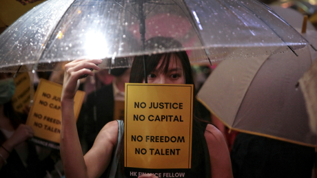 Proteste in Hongkong © Elson Li/HK01/AP/dpa