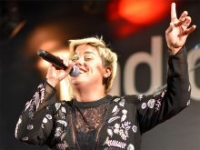 Hannah Williams beim radioeins Parkfest