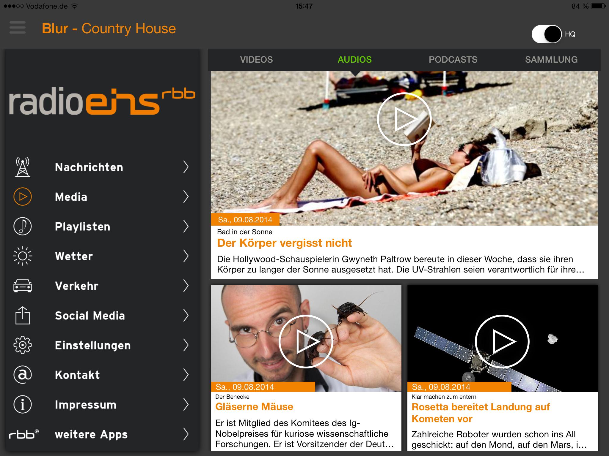 Radioeins 2.0   Die App Für Phone U0026 Tablet (Screenshot)