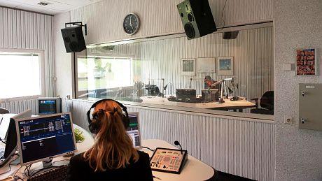 Studio von Radio Nederland Wereldomroep