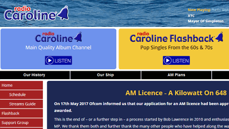 Radio Caroline – AM licence – A kilowatt on 648
