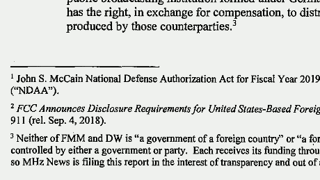 "Neither of FMM or DW is ""a government of a foreign country"" or ""a foreign political party""."