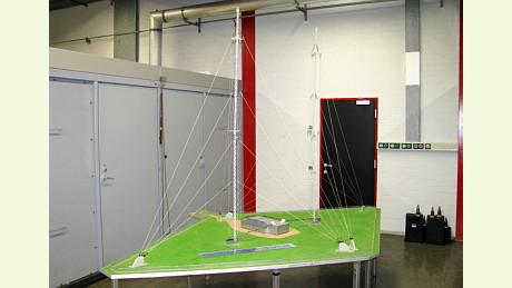 Modell des Mittelwellensenders Flevoland